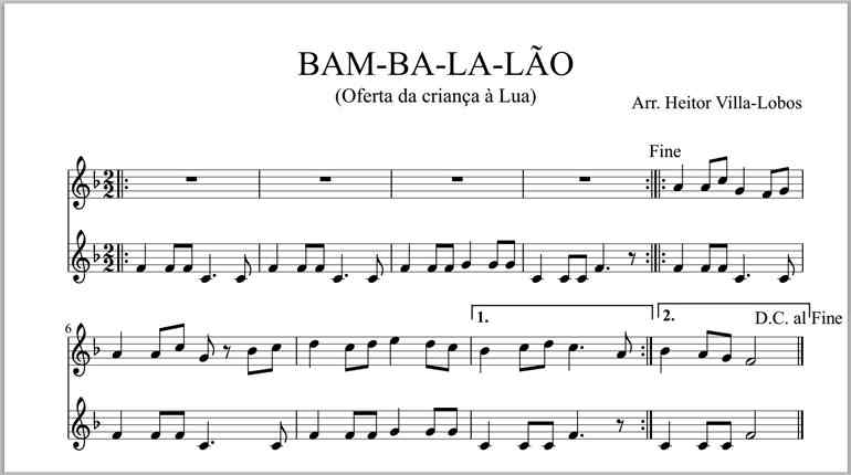 Bambalalão partitura 770