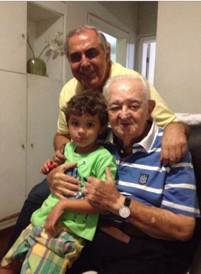 Lomanto Junior com filhos e bisneto